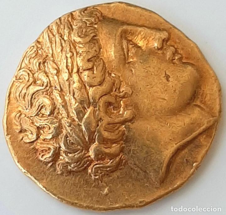 Monedas Grecia Antigua: Estátera-Stater Oro Filipo II circa 340-328 a.c. Pella - Foto 13 - 214769715