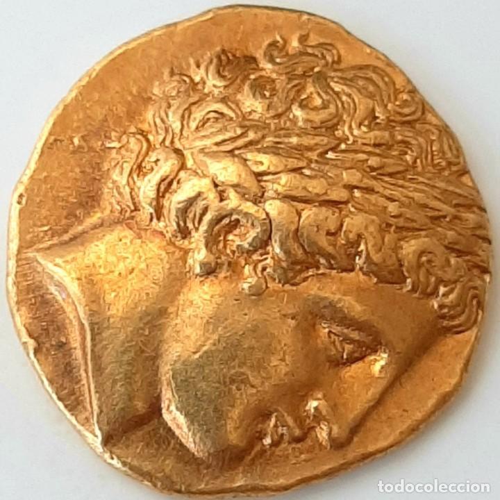 Monedas Grecia Antigua: Estátera-Stater Oro Filipo II circa 340-328 a.c. Pella - Foto 14 - 214769715