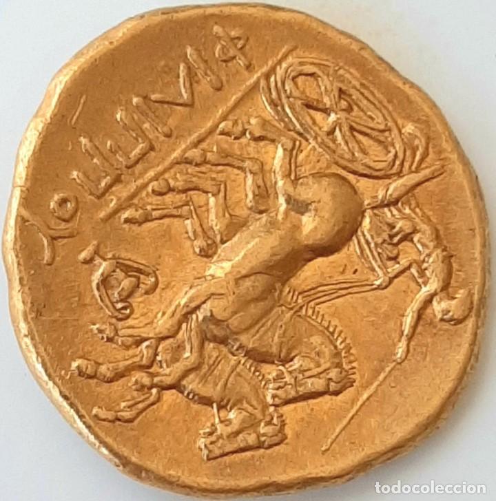 Monedas Grecia Antigua: Estátera-Stater Oro Filipo II circa 340-328 a.c. Pella - Foto 15 - 214769715