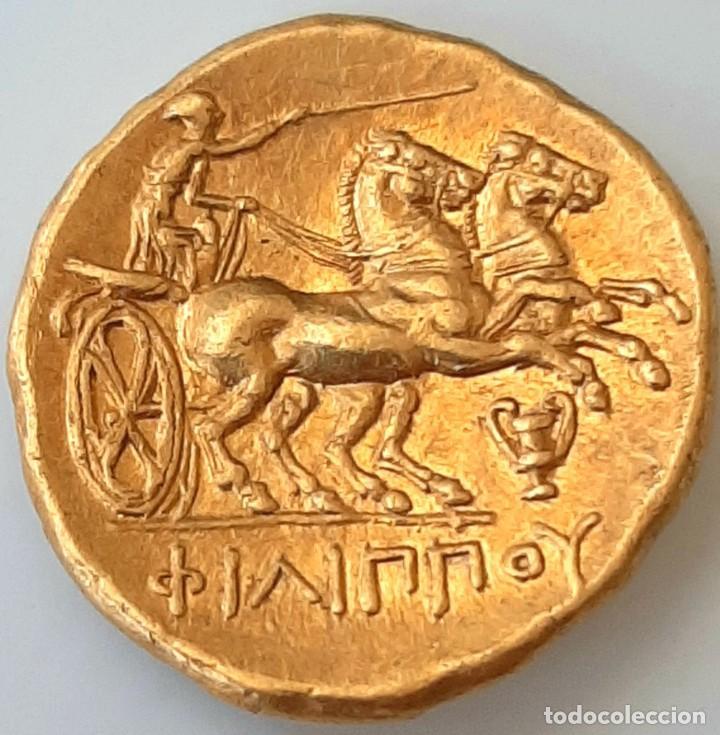 Monedas Grecia Antigua: Estátera-Stater Oro Filipo II circa 340-328 a.c. Pella - Foto 16 - 214769715