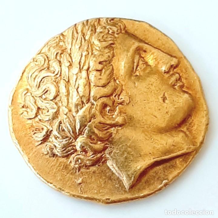 ESTÁTERA-STATER ORO FILIPO II CIRCA 340-328 A.C. PELLA (Numismática - Periodo Antiguo - Grecia Antigua)