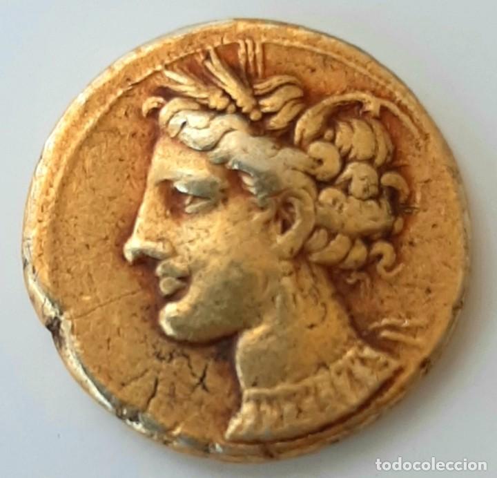ESTÁTERA-STATER ELECTRO CARTAGINENSE CIRCA 310-290 A.C. ZEUGITANA (Numismática - Periodo Antiguo - Grecia Antigua)
