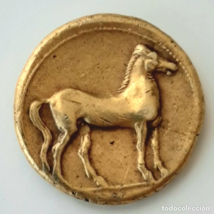 Monedas Grecia Antigua: Estátera-Stater Electro Cartaginense circa 310-290 a.c. Zeugitana - Foto 2 - 214727447