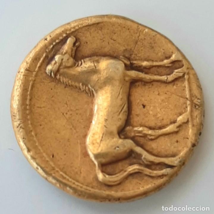 Monedas Grecia Antigua: Estátera-Stater Electro Cartaginense circa 310-290 a.c. Zeugitana - Foto 4 - 214727447