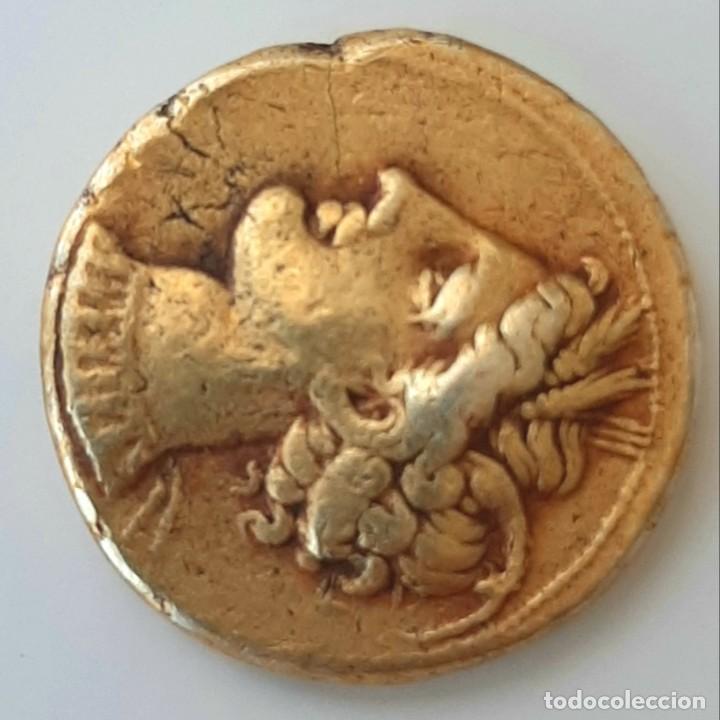 Monedas Grecia Antigua: Estátera-Stater Electro Cartaginense circa 310-290 a.c. Zeugitana - Foto 7 - 214727447