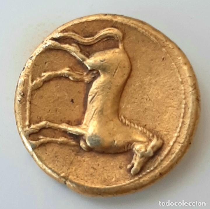 Monedas Grecia Antigua: Estátera-Stater Electro Cartaginense circa 310-290 a.c. Zeugitana - Foto 8 - 214727447