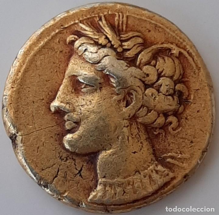 Monedas Grecia Antigua: Estátera-Stater Electro Cartaginense circa 310-290 a.c. Zeugitana - Foto 9 - 214727447