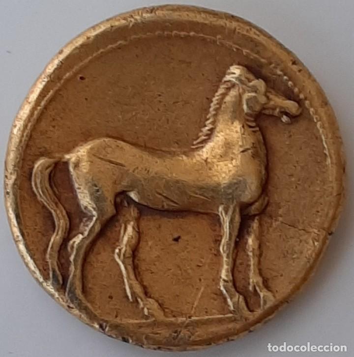 Monedas Grecia Antigua: Estátera-Stater Electro Cartaginense circa 310-290 a.c. Zeugitana - Foto 10 - 214727447