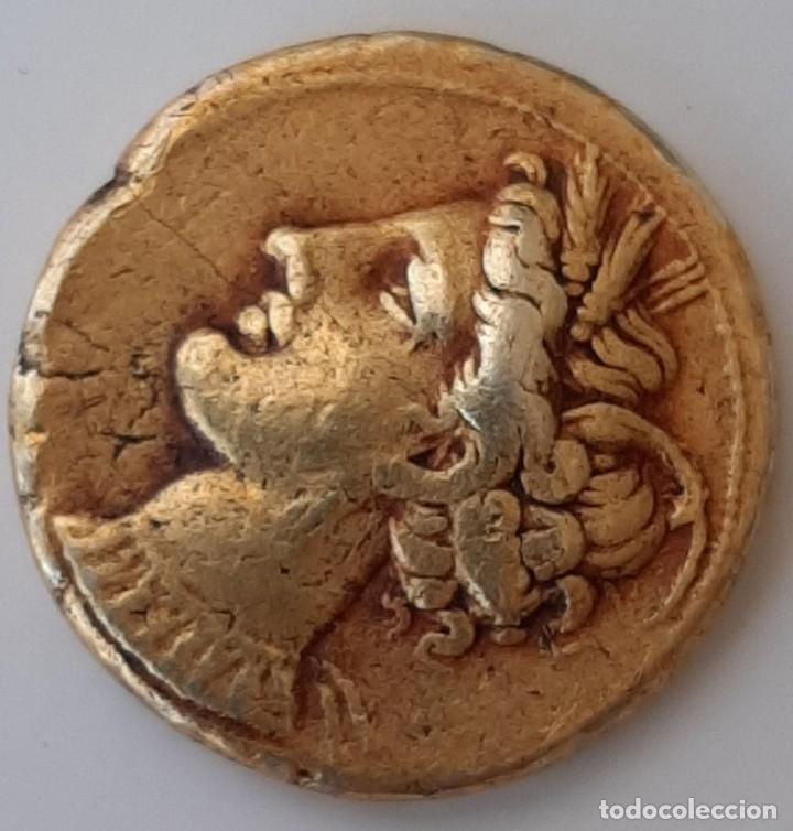 Monedas Grecia Antigua: Estátera-Stater Electro Cartaginense circa 310-290 a.c. Zeugitana - Foto 11 - 214727447
