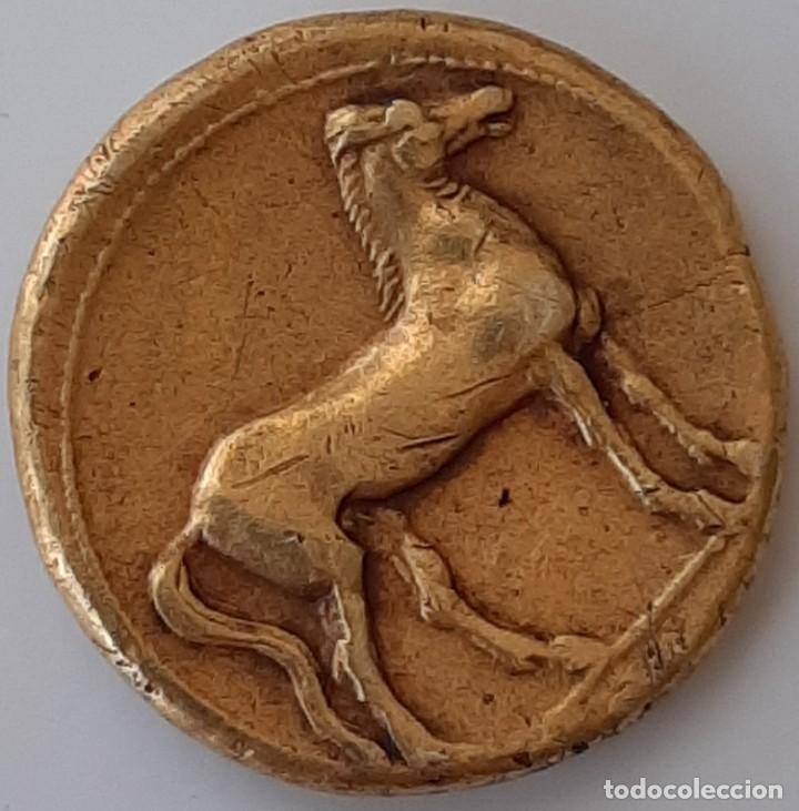 Monedas Grecia Antigua: Estátera-Stater Electro Cartaginense circa 310-290 a.c. Zeugitana - Foto 12 - 214727447