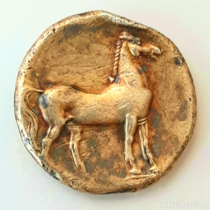Monedas Grecia Antigua: Estátera-Stater Electro Cartaginense circa 310-270 a.c. Zeugitana - Foto 2 - 214739886