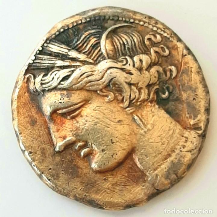 Monedas Grecia Antigua: Estátera-Stater Electro Cartaginense circa 310-270 a.c. Zeugitana - Foto 3 - 214739886