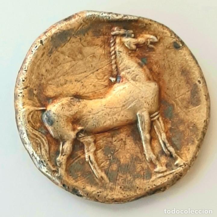 Monedas Grecia Antigua: Estátera-Stater Electro Cartaginense circa 310-270 a.c. Zeugitana - Foto 4 - 214739886
