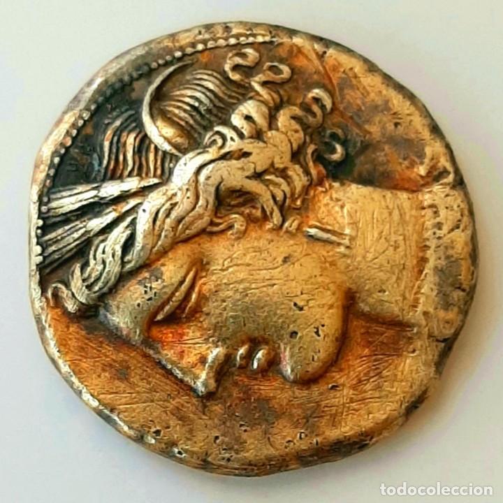 Monedas Grecia Antigua: Estátera-Stater Electro Cartaginense circa 310-270 a.c. Zeugitana - Foto 5 - 214739886