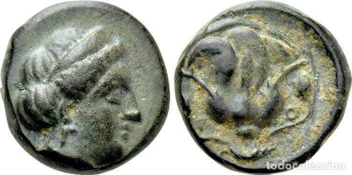 CARIA. RODAS. AE (CIRCA 404-385 AC). EBC RHODOS / ROSA (Numismática - Periodo Antiguo - Grecia Antigua)