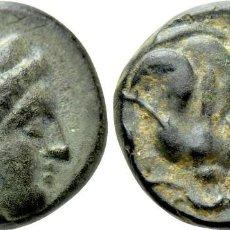 Monedas Grecia Antigua: CARIA. RODAS. AE (CIRCA 404-385 AC). EBC RHODOS / ROSA. Lote 222033981