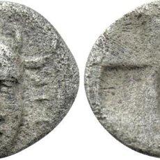 Monedas Grecia Antigua: ASIA MENOR. INCIERTO (¿IDYMA?). HEMIOBOL (SIGLO V A.C.). MBC+ CABEZA CON CUERNOS DEL DIOS. Lote 222034913