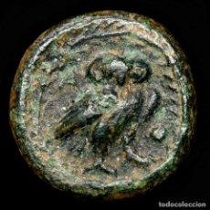 Monedas Grecia Antigua: LAKONIA. LAKEDAIMON (ESPARTA) Æ CALCO. 48-35 AC. ATENEA / BUHO.. Lote 222797890
