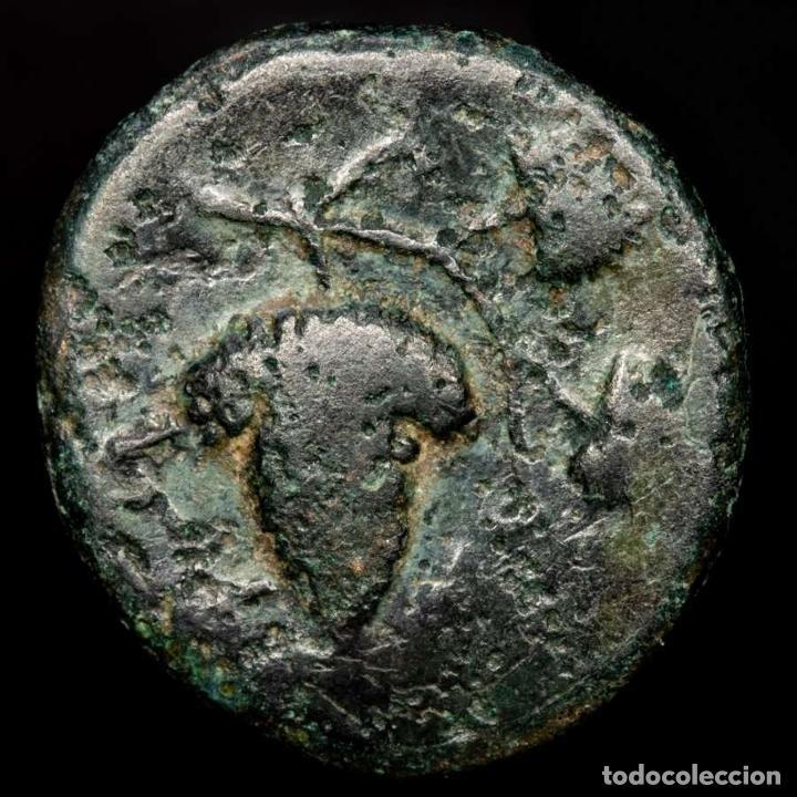 Monedas Grecia Antigua: Grecia antigua - Temnos, Aeolis. - Æ 17. - Dionisios / Racimo uvas - Foto 2 - 222800441