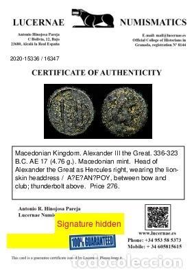 Monedas Grecia Antigua: Reino de Macedonia, Alejandro III Magno. 336-323 aC. Maza y carcaj - Foto 3 - 222803386