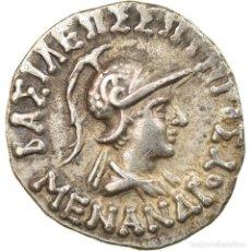 Monedas Grecia Antigua: MONEDA, BACTRIA, MENANDER, DRACHM, 160-155 BC, MBC, PLATA, SEAR:7601. Lote 228335110
