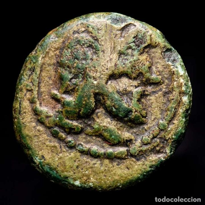GRECIA - BRONCE DE OLYMPIA (PELOPONESO) APOLLO / FAΛΕΙΩN EN CORONA (Numismática - Periodo Antiguo - Grecia Antigua)