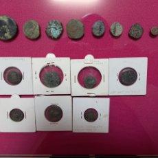Monedas Grecia Antigua: LOTE 16 MONEDA ANTIGUAS ROMANAS DE METAL DESCONOZCO ESTE MUNDO. Lote 255546205