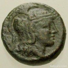 Monedas Grecia Antigua: 978-ANTIGUA GRECIA-MACEDONIA-PELLA. AE 17, 187-168 AC,ATHENA & TORO PASTANDO-CON MONOGRAMAS. Lote 262235910