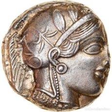 Monedas Grecia Antigua: MONEDA, ATTICA, ATHENS, TETRADRACHM, 490-407 BC, ATHENS, MBC+, PLATA, SNG-COP:31. Lote 262776965