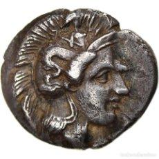 Monedas Grecia Antigua: [#897747] MONEDA, LUCANIA, THOURIOI, TRIOBOL, 400-350 BC, MBC, PLATA, HN ITALY:1806. Lote 278178293