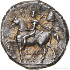Monedas Grecia Antigua: [#897744] MONEDA, CALABRIA, TARENTUM, NOMOS, 240-228 BC, MBC+, PLATA, HN ITALY:1058. Lote 278184328
