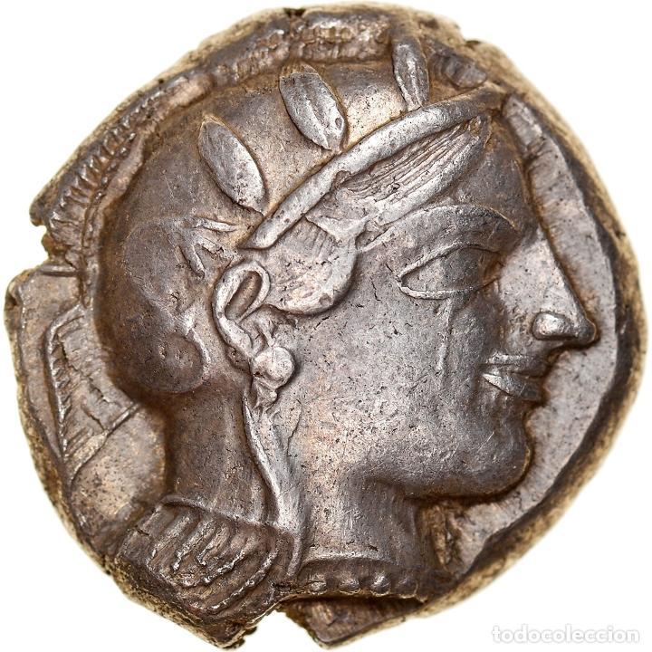 [#867356] MONEDA, ATTICA, ATHENS, TETRADRACHM, C. 450-440 BC, ATHENS, MBC+, PLATA (Numismática - Periodo Antiguo - Grecia Antigua)