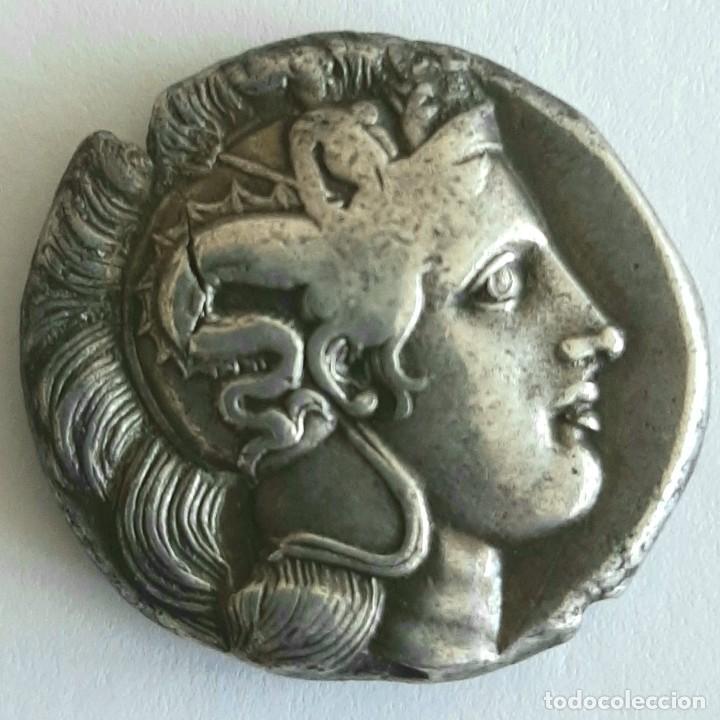 DIESTÁTERA-DISTATER. THURIUM (LUCANIA), CIRCA 350-300 A.C. ATENEA-TORO. EX GUADAN 1447 (Numismática - Periodo Antiguo - Grecia Antigua)