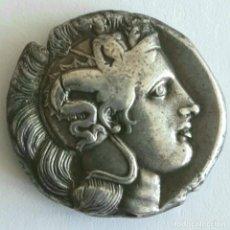 Monedas Grecia Antigua: DIESTÁTERA-DISTATER. PLATA THURIUM (LUCANIA), CIRCA 350-300 A.C. ATENEA-TORO. EX GUADAN 1447. Lote 278623428