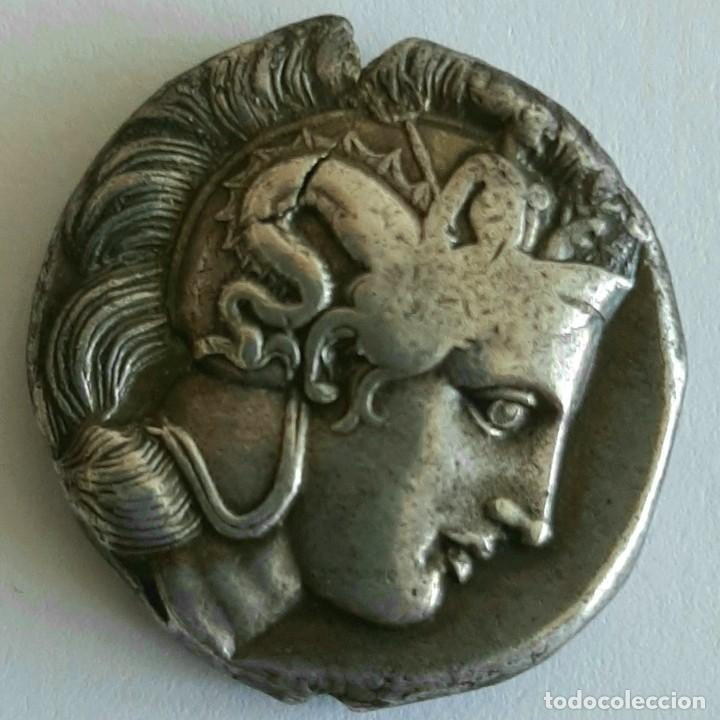 Monedas Grecia Antigua: Diestátera-Distater. Thurium (Lucania), circa 350-300 a.c. Atenea-Toro. Ex Guadan 1447 - Foto 3 - 278623428