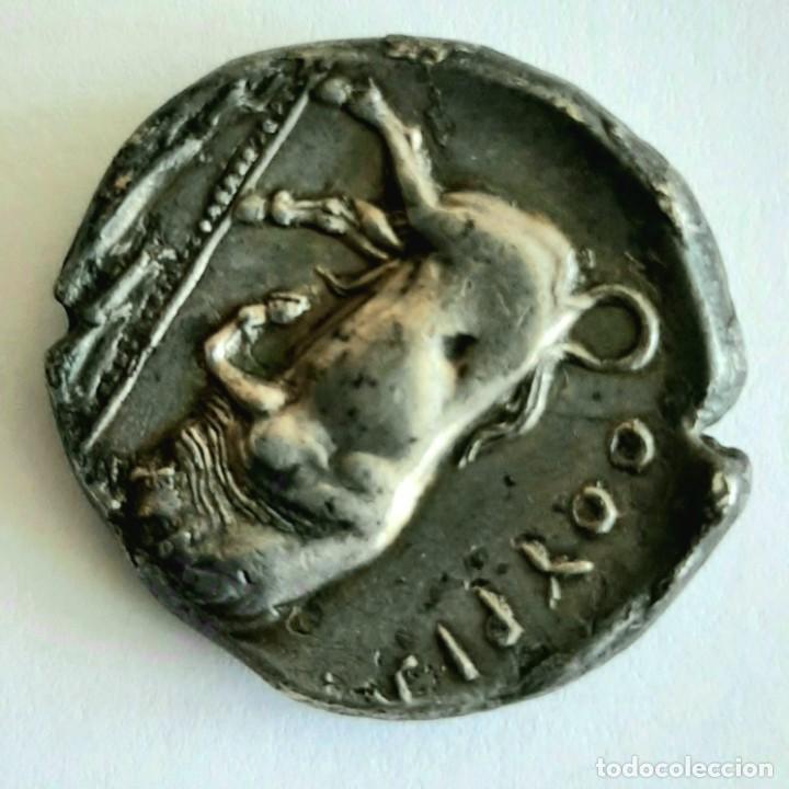 Monedas Grecia Antigua: Diestátera-Distater. Thurium (Lucania), circa 350-300 a.c. Atenea-Toro. Ex Guadan 1447 - Foto 4 - 278623428