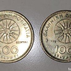 Monedas Grecia Antigua: LOTE 2 MONEDAS 100 DRACMAS DE GRECIA - ALEJANDRO MAGNO / NUMISMATICA / MONEDA. Lote 283264773