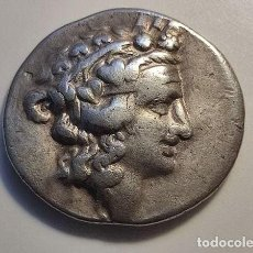 Monedas Grecia Antigua: TRACIA, TASOS. AR TETRADRACHM, C. 90-75 A. C. SERIE IMITATIVA. ANVERSO: CABEZA DEL JOVEN DIONYSOS A. Lote 288903613