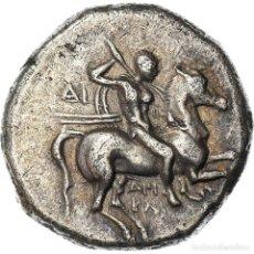 Monedas Grecia Antigua: [#970900] MONEDA, CALABRIA, TARAS, STATER, 281-240 BC, TARENTUM, MBC+, PLATA, HN. Lote 293597993