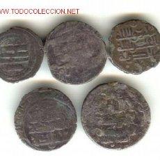 Monedas hispano árabes: CINCO PIEZAS ARABES PLATA TIPO DIRHEM. Lote 25327542