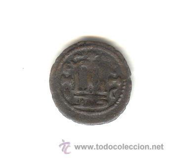 Monedas hispano árabes: PRIMEROS TIEMPOS DEL ISLAM AL ANDALUS FELUS TIPO FOLLIS BIZANTINO CECA EMESA HIMS SIRIA - Foto 2 - 22238139
