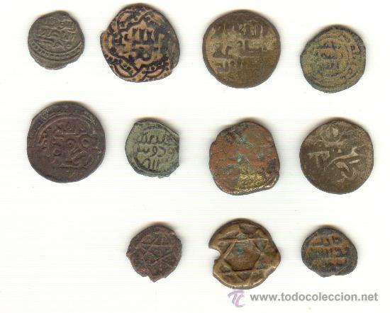 LOTE DE ONCE PIEZAS A CLASIFICAR (Numismática - Hispania Antigua - Hispano Árabes)