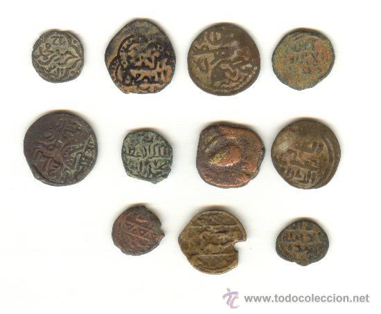 Monedas hispano árabes: LOTE DE ONCE PIEZAS A CLASIFICAR - Foto 2 - 25668466