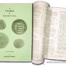 Monedas hispano árabes: *** MAGNIFICO LIBRO SOBRE TODO TIPO DE MONEDAS ARABES ANTIGUAS, STEPHEN ALBUM. 2ª EDIC. 1998 ***. Lote 27620643