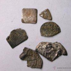 Monedas hispano árabes: LOTE DE 6 FRACCIONES DE DIRHAN DE PLATA. Lote 46162140