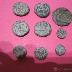 Monedas hispano árabes: LOTE DE MONEDA HISPANO ARABES FELUS FELUCHE FELU ANTIGUA ANTIGUAS. Lote 49044722