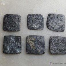 Monedas hispano árabes: LOTE DE SEIS MONEDAS EN PLATA HISPANO ÁRABES DIRHAM. Lote 54375990
