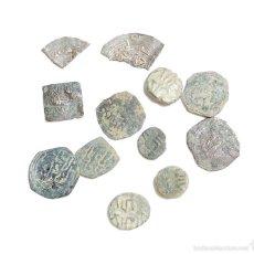 Monedas hispano árabes: LOTE DE FELUSES Y DIRHEM HISPANO ARABES. Lote 58244376