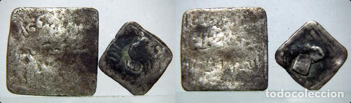 2 MONEDAS HISPANO ARABE PARA CLASIFICAR DE PLATA (Numismática - Hispania Antigua - Hispano Árabes)