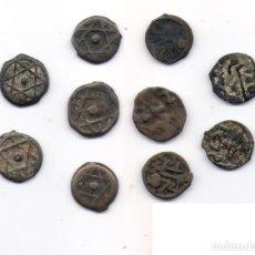 Monedas hispano árabes: LOTE DE 5 MONEDAS ANTIGUAS - FELUS - HISPANO - ARABES.. Lote 66225114